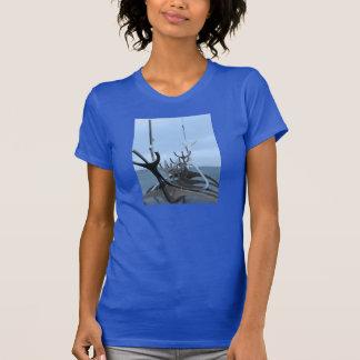 Icelandic Viking Ship Sculpture T-Shirt