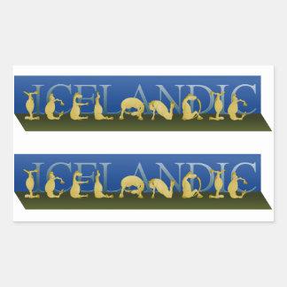 Icelandic written in ponies