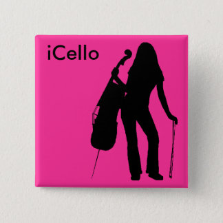 iCello Pin (hot pink)