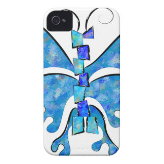 Icelonius - blue ice butterfly Case-Mate iPhone 4 case