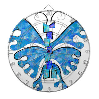 Icelonius - blue ice butterfly dartboard