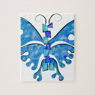 Icelonius - blue ice butterfly jigsaw puzzle