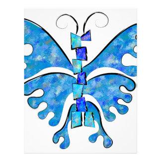 Icelonius - blue ice butterfly letterhead