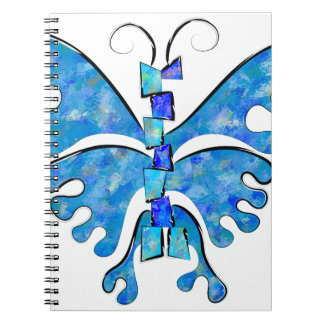 Icelonius - blue ice butterfly notebook