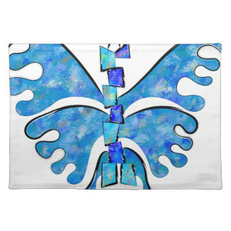 Icelonius - blue ice butterfly placemat