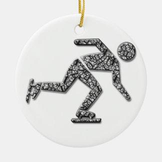iceskater ceramic ornament