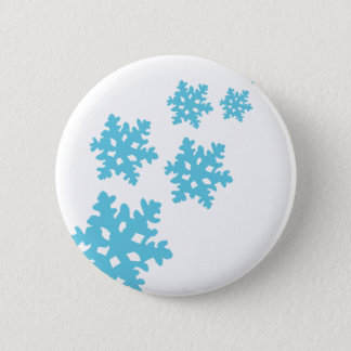 icey Snowflakes blue 2 Inch Round Button