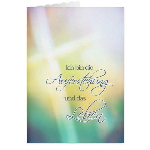 ich bin die Auferstehung, German religious Easter Greeting Cards