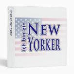 """""""ich bin ein New Yorker"""" Binders"""