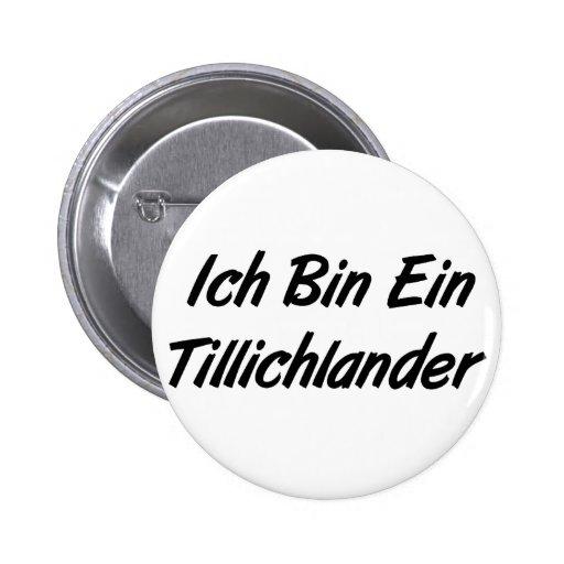 Ich Bin Ein Tillichlander Pinback Button