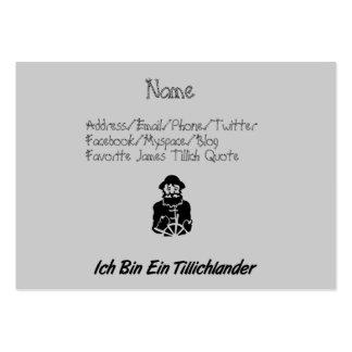 Ich Bin Ein Tillichlander Large Business Card
