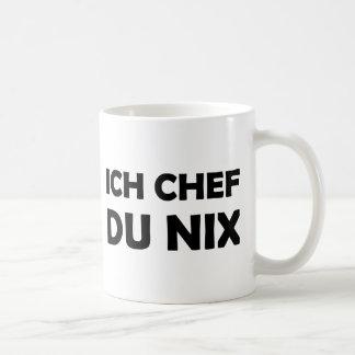 Ich Chef du nix black icon Coffee Mug