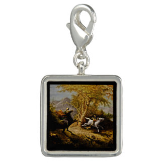 Ichabod Crane Chased by Headless Horseman Photo Charm