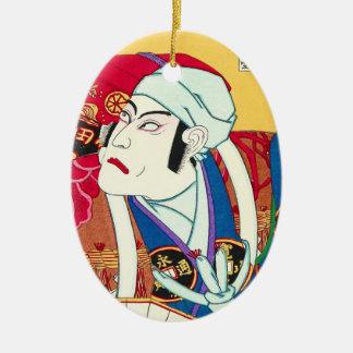 Ichikawa Danjuro - Actor Portrait utagawa kunisada Ceramic Oval Ornament