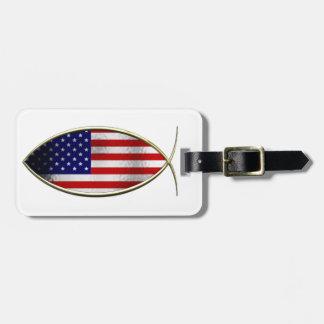 Ichthus - American Flag Luggage Tag
