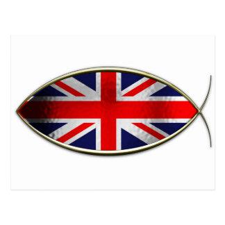 Ichthus - British Flag Postcard