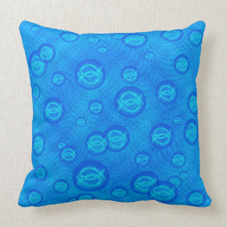 Ichthus Bubbles Throw Pillow