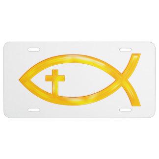 Ichthus Christian Fish | Religious Symbol License Plate