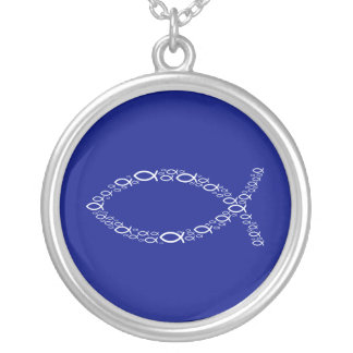 Ichthus - Christian Fish Silver Plated Necklace