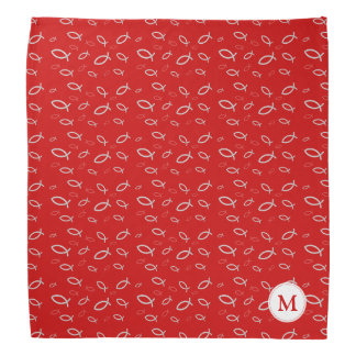 Ichthus - Christian Fish Symbol with Monogram Bandana