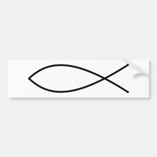 Ichthus Fish Bumper Sticker