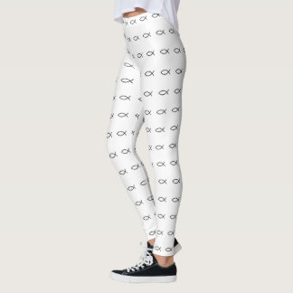 Ichthus Fish Pattern Leggings