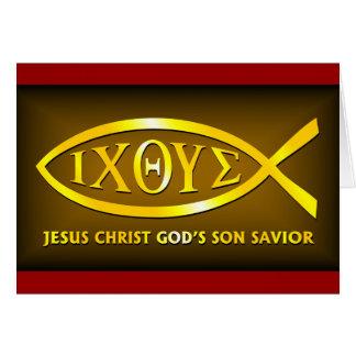 ICHTHUS: Jesus Fish Symbol Card