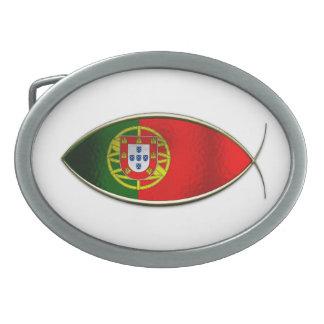 Ichthus - Portugese Flag Belt Buckle
