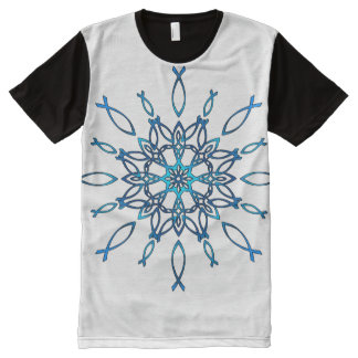 Ichthus Snowflake All-Over-Print T-Shirt