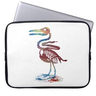 Ichthyornis skeleton laptop sleeve
