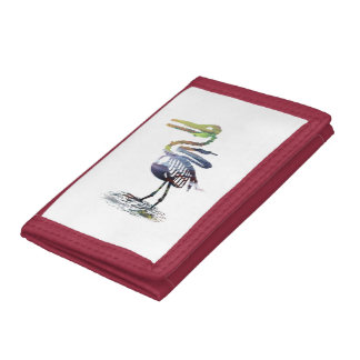 Ichthyornis skeleton tri-fold wallets