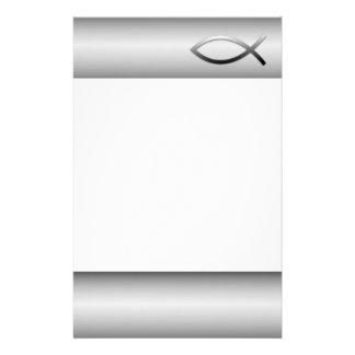 Ichthys Jesus Fish Christian Symbol Stationery Design
