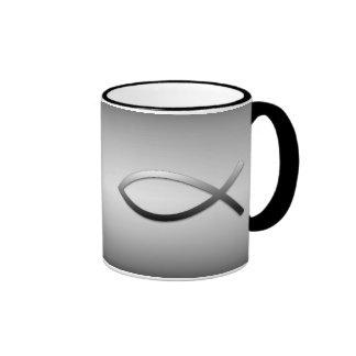 Ichthys Jesus Fish Ringer Coffee Mug