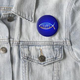 ICHTYS Christian Fish Symbol 2 Inch Round Button