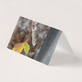 Icicle on leaf card