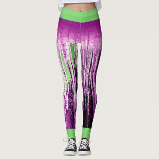 Icicle once differently, i.e. pink and green leggings