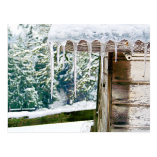Icicles on the Barn Postcard