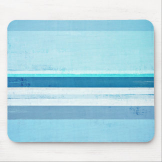 'Icing' Blue Abstract Art Mouse Pad