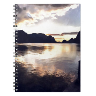 Icmeler Seascape Spiral Note Books