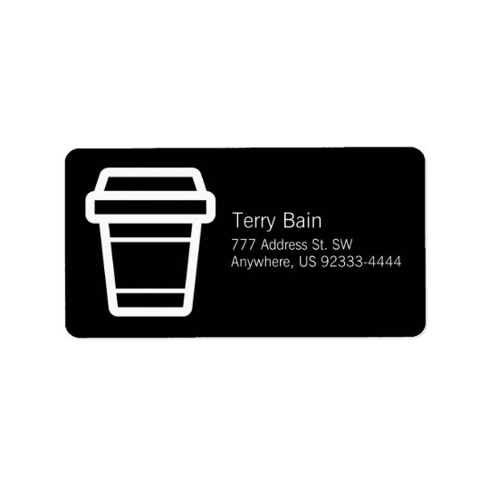 Icon Coffee or Latte Cup To-Go Label