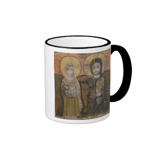Icon depicting Abbott Mena with Christ Mugs