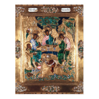 Icon depicting Abraham and the Three Angels Postcard