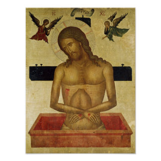 Icon depicting Christ in the tomb Poster
