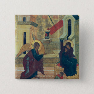 Icon depicting the Annunciation 2 Inch Square Button