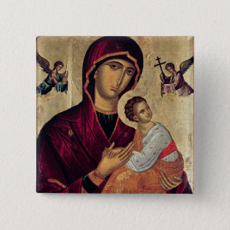 Icon depicting the Holy Mother of the Passion 2 Inch Square Button