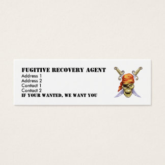 icon, Fugitive Recovery Agent, Address 1, Addre... Mini Business Card