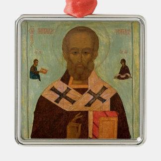 Icon of St. Nicholas Metal Ornament