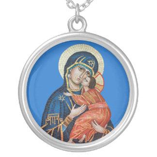 Icon of the Theotokos Orthodox Icon Necklace