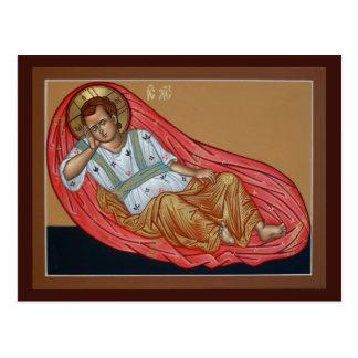 Icon of the Unsleeping Eye Prayer Card Postcard