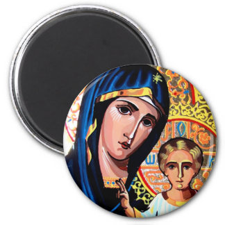 Icon of the Virgin of Kazan Romanian on glass Wind Magnet